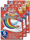 Grey L'Acchiappacolore Fogli Cattura Colore Lavatrice Evita Incidenti Lavaggio, Foglietti Acchiappacolore e Anti-Sporco, Confezione 3 x 20 Fogli