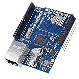 Bewinner W5100 Ethernet Shield Tablero de Expansión para La Placa Base Arduino, para Mega 1280, para Mega 2560