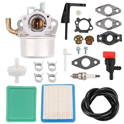 Buckbock 798653 Carburetor Carb with Air Fuel Filter Repair Kit for BS 591299 698474 791991 698810 698857 698478 694174 690046 693751 6.5 HP 120202 120212 120232 120252 Lawn Mower