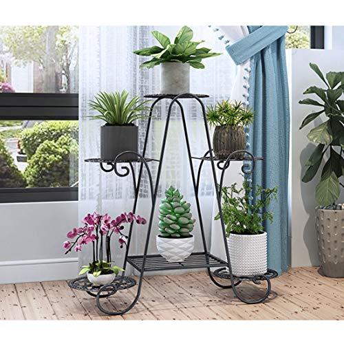wangxike Estantería para Macetas Soporte para Plantas de Metal, Decorativa Plantas Exterior Interior Balcón Jardín con 6 Estantes
