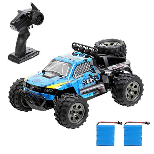 Tomatu Ferngesteuertes Auto, 1:18 2WD RC Auto Off Road Buggy, 2.4 Ghz Radio Control Geländewagen Spielzeug Fahrzeug für Kinder Erwachsene