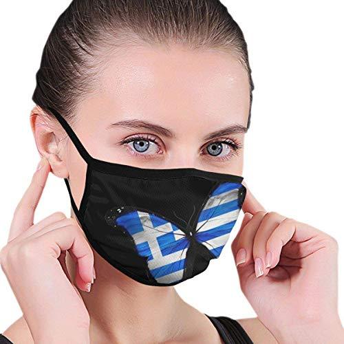 Die griechische Flagge Schmetterling Männer Frauen Druck Winddichte waschbare Wiederverwendbare Gesichtsbehandlung für die Gartenarbeit