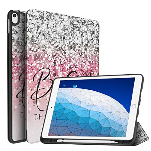iPad Air (3rd Gen) 10.5' 2019/iPad Pro 10.5' 2017 Case,BOSLIVE Bible Verse Psalm 46:10 Be Still and Know Background Design Slim Stand Folio Case with Pencil Holder,Auto Sleep/Wake Back Smart TPU Case