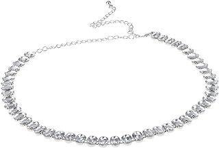 cintura a fascia per sposa con cristalli Applique Shinybeauty con strass e perline fascia con piccoli strass 35x3.0cm RA233 RA219