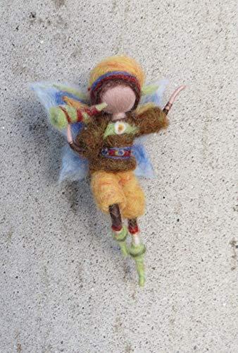 Gefilzter Elfenjunge, Fee, Waldorf, Wolle, Wollfee toll für Jahreszeitentisch, Märchenwolle