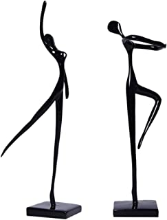 LULUD Sculpture Ballerina Collectible Figurines Modern Simple Abstract Sculpture Ornament (Color : Black and White)