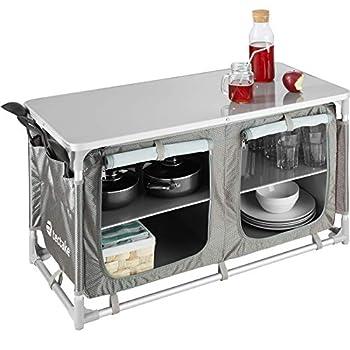 TecTake 800585 Cuisine de Camping Meuble de Jardin - Divers modèles - (Type 4 | n° 402922)