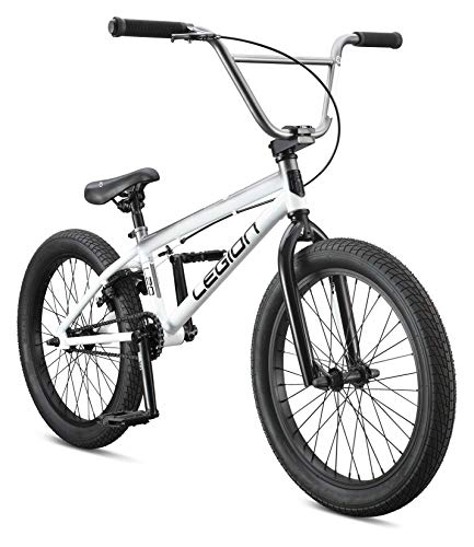 Mongoose Legion L20 Freestyle BMX Bike Line for Beginner-Level to Advanced Riders, Steel Frame, 20-Inch Wheels, White