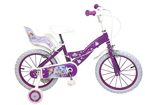 Toimsa 646 - Principessa Sofia, Bicicletta per Bambina, Dimensioni 16', da 5 a 8 Anni
