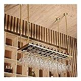 Estantería de vino Estante del vino vino rack de techo Bastidores de vino |Colgando Vino Titular de vidrio |Titular de la botella de vino de la vendimia |Pared rústica Vino Titular Montado |Altura aju