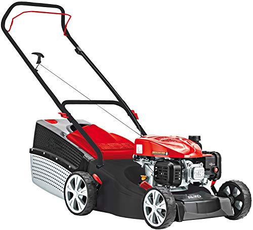AL-KO Benzin-Rasenmäher Classic 4.66 P-A Edition (46 cm Schnittbreite, 2.0 kW Motorleistung, Robustes Stahlblechgehäuse, für Rasenflächen bis 1100 m², inkl. 65 L Grasfangkorb)