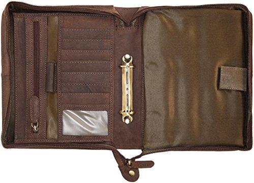 51uv+qiHB5L - LEABAGS Jakarta portafolios de auténtico Cuero búfalo en el Estilo Vintage - Muskat