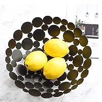 フルーツスタンド、キッチンプロデュースカウンタートップディスプレイホルダー-果物野菜スナック家庭用品金属の収納オーガナイザー BBJOZ かご バスケット (Color : ブラック)