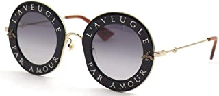 Gucci GG0113S 001 Montures de lunettes, Noir (Black/Grey), 44 Femme