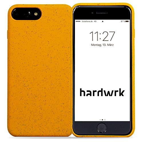 hardwrk Premium Eco Case - kompatibel mit Apple iPhone 6/6S/7/8 Plus - gelb - Nachhaltige, kompostierbare, biologisch abbaubare Schutzhülle Handyhülle Cover Hülle - Qi kabellos Laden