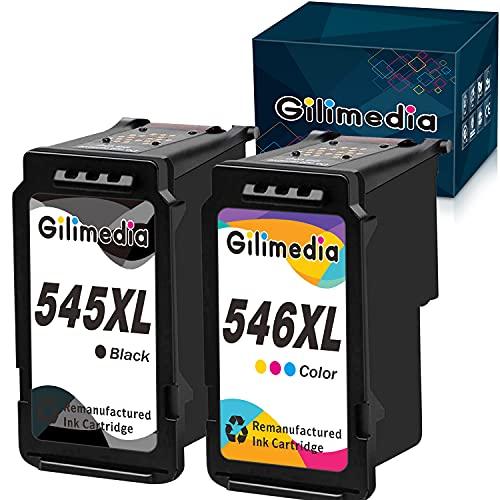 Gilimedia Canon PG-545 CL-546 XL 545XL 546XL - Cartuchos de tinta para Canon Pixma MX495 TS3150 TS3350 iP2850 TR4550 TR4551 MG2555S MG2950 MG250 50 segundos.