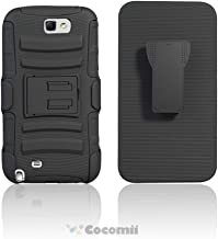 Cocomii Blade Armor Galaxy Note 2 Case NEW [Heavy Duty] Premium Belt Clip Holster Kickstand Shockproof Bumper [Military Defender] Full Body Dual Layer Rugged Cover for Samsung Galaxy Note 2 (Bl.Black)