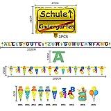iZoeL Schulanfang Einschulung Schuleinführung Schule Deko Alles Gute Zum Schulanfang Girlande + Schultüte Banner + Folienballon + 123 ABC Konfetti für Junge Mädchen - 3