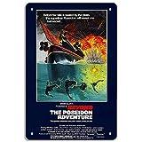 sfasf The Poseidon Adventure - Adhesivo de metal retro para pared, diseño vintage con texto en inglés 'The Poseidon Adventure
