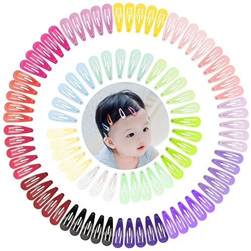 100 Stück in 20 Farben Haarspangen Mädchen Baby, Haarspangen bunt, Kinder Haarklammern, Bunte Mini Haarspangen, Bunt Mini Baby Haarclips, Kinder Haarklammern, Haar Accessoire für Kinder & Damen(3cm)