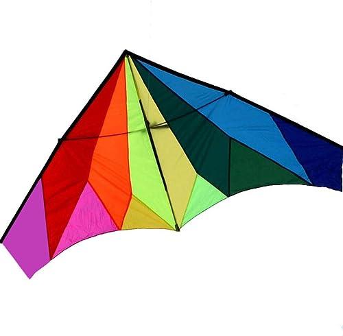 AYLS Cerfs-Volants Couleurés, Grand Parc Parapluie débutant cerf-Volant Brise Facile à Voler cerf-Volant de Voyage portable, 240  120CM