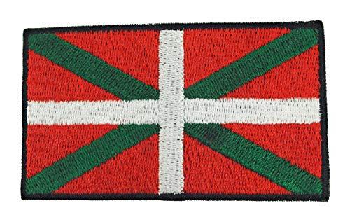 Gemelolandia Parche Bordado Termoadhesivo Bandera del Pais Vasco Euskadi 7,5 cm