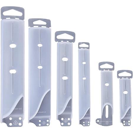Cabilock 6 Unids Cubierta de Cuchillo de Plástico Vaina Protectores de Borde de Cuchillo Santoku Protector de Cuchillo para Acero Inoxidable Cocina Funda de Cuchillo de Plástico