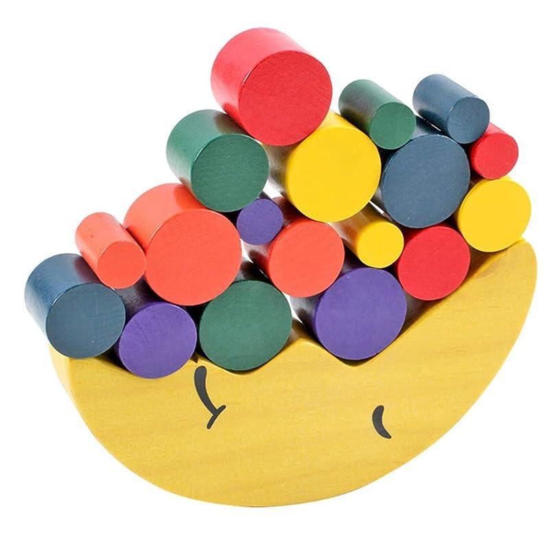 Nicknocks Moon Equilibrium Game Wooden Stacking Blocks Balancing Game Sorting Toy for Kids