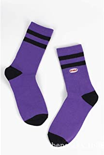 Striped Socks Stockings Socks Women Socks Couples-5 Pairs Autumn and Winter Letters Embroidered Cotton Wild Two Bars Sports Socks,Fully Breathable