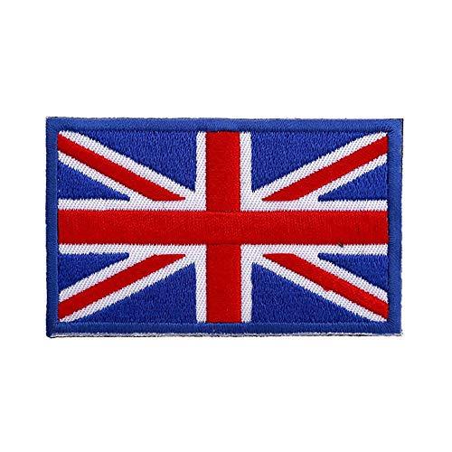 Tactical British Union Jack gestickter Aufnäher England Flag UK Großbritannien Aufnähen von Aufnähern & Abzeichen, 1 Pack