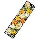 HANAYUME プレゼント フラワーソープ ボックスフラワーギフトフラワー 花 誕生日 母の日 プレゼント (オレンジ)