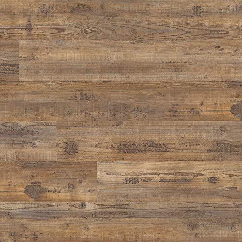 M S International AMZ-LVT-0014 Hampstead Hickory Bluff 6 inch x 48 inch Gluedown Adhesive Luxury Vinyl Plank Flooring for Pro and DIY Installation, Brown, CASE, 36 Square Feet