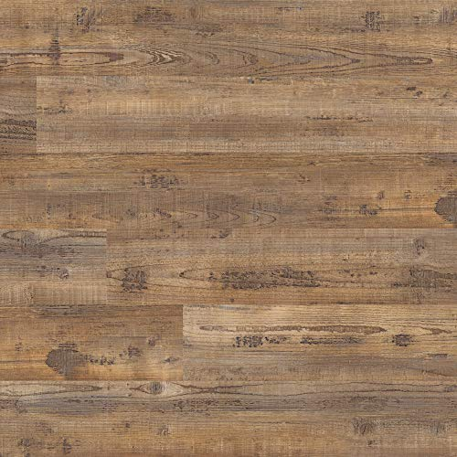 M S International AMZ-LVT-0014 Hickory Bluff 6 inch x 48 inch Glue Down Adhesive Luxury Vinyl Plank Flooring for Pro and DIY Installation Hampstead, Brown, CASE, 36 Square Feet