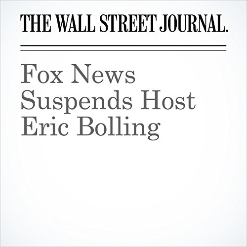Fox News Suspends Host Eric Bolling copertina