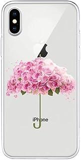 جراب Mylne شفاف لهاتف iPhone XR، وردي نمط Creaive Funny Clear Soft Ultra Thin من السيليكون المرن للحماية الكاملة