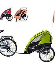 Papilioshop B-Fox - Remolque para bicicleta o cochecito de paseo para transporte de 1 a 2 niños