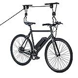 LZQ Deckenlift Fahrradlift zur Deckenhalterung, Seilzug Bike Lift Fahrradaufhängung Fahrradhalterung bis 57kg für Garage und Keller