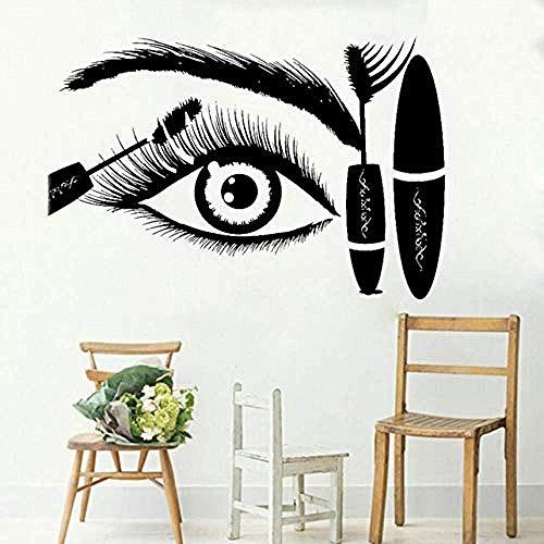 Wimpern Eye Mascara Wandtattoo Augenbrauen Beauty Salon Shop Dekor Make Up Zimmer Wand DecorationDecals84x56cm