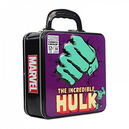 Unbekannt Marvel Comics - Blechkoffer Brotdose Lunchbox - Hulk - Beidseitig Bedruckt