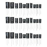 KKmoon Condensatori Elettrolitici da 125 Pezzi 25 Valori Kit Assortito 1uF-2200uF