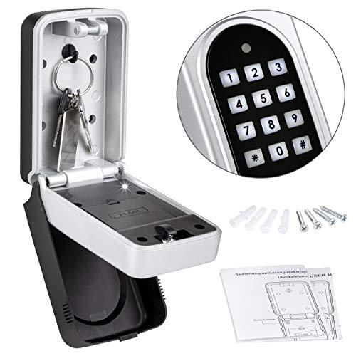 ONVAYA® Schlüsselsafe mit Zahlencode | Schlüsselkasten | Keysafe (Zahlencode elektrisch)