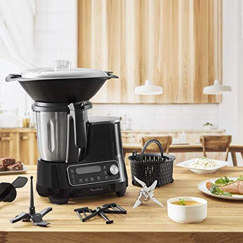 Moulinex ClickChef HF4SPR30 - Robot de cocina multifunción 3.6 l (Recetario en Castellano, 5...