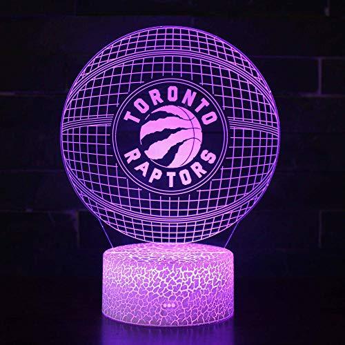 certainPL Amantes del fútbol, lámpara 3D, luz de Noche USB,Mesa de iluminaciónLEDMulticolor,Regalos de cumpleaños para niños, decoración para el hogar