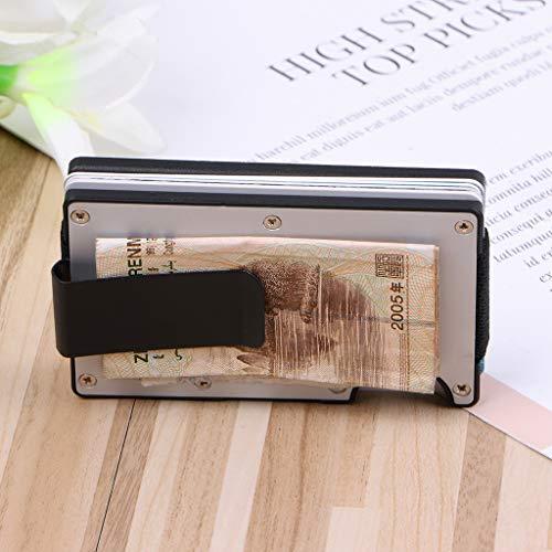 Scdincier Card Package, Men Card Holder RFID Blocking ID Credit Card Wallet Aluminium Case Money Clip Card Organizer