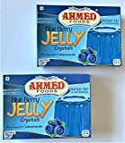 Ahmed Foods Blueberry Jelly Crystal, Instant Set Jello 70g (2 Packs) - Certified Halal