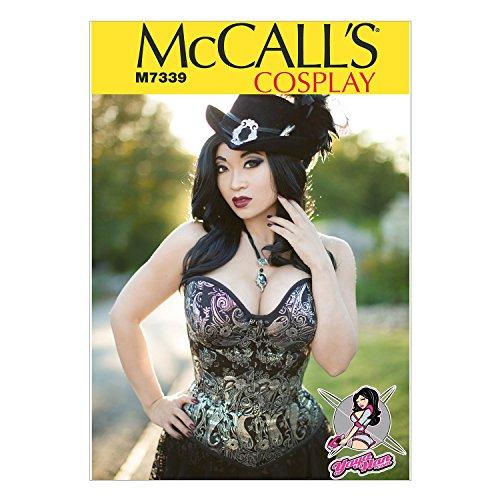 McCall's Patterns McCall's Schnittmuster 7339 E5, Kostüme für Damen, Größen 42-50, Mehrfarbig, (14-16-18-20-22)