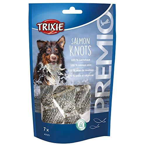 Trixie - Caramella 100% Pelle di Salmone. per Cani. 80 g. Premio Nodi di Salmone - TR-31575