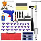 EVBOYS Paintless Dent Repair Kit Car Dent Remover Tool - 52 Pcs Dent Removal Puller Kits for Small Body Dent