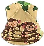 Dschungel Monkeys Winddichte Skimaske Staubschutz Stirnband schweres Anti-UV Fleece Nackenwärmer für Winter Outdoor Sport