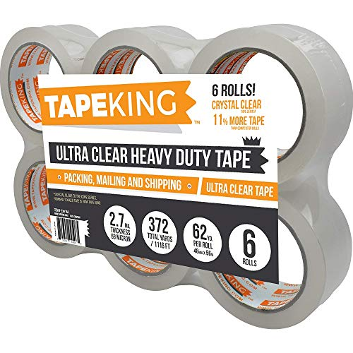 """1 X CLEAR 2/"""" Packaging Tape Roll Cartoon Box Sealing Packing 65 Yard 196 ft"""